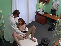 Cute redhead riding cock and fucked hard