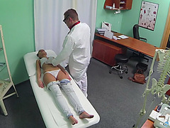 Sexy Gina sucks and fucks her doctor