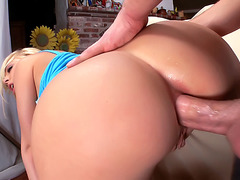 Rimming and Digging a Blonde Pornstar's Ass