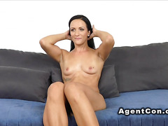 Small tittied German babe in casting