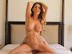Hot August Ames gets fucked while on top