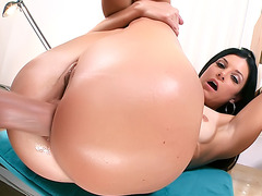 MILF Slobbers a Young Cock and Slides it in the Ass