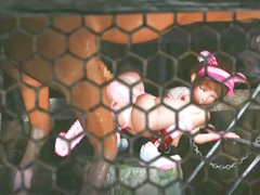 Chained 3d animated cutie with bigtits monster horse fucked