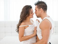 Super hot and beautiful Allie Haze gets sensual sex from her boyfriend