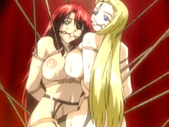 Tied up hentai gagging with bigboobs swing fucked