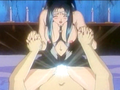 Bigboobs hentai hot riding dick in ritual sex