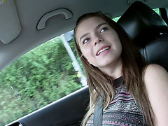 Cutie Marina sucks and fucks in the car