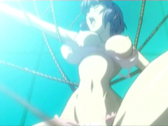 Bondage Japanese hentai with bigboobs gets roped hitting her spot