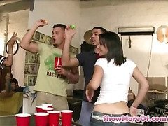 College chicks fucked during the party