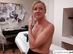 Alana receives first time assfucking birthday gift and messy cumshot