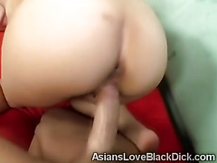 Little Niya goes crazy with a huge cock stretching her pussy