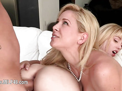 unbelievable threesome fucking with MILF