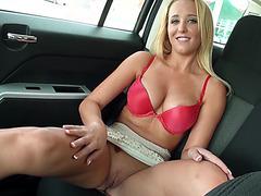 Hot Tucker Starr rides drivers big cock