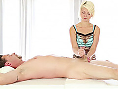 Dani Desire gives client special massage