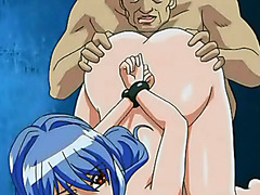 Hentai girl with tied hands