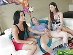 Milf banged in threesome