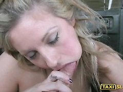 Busty whore Ashley railed by perv driver