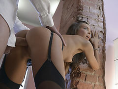 Stunning babe Gina Russel pounded good