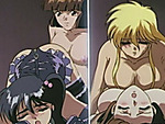 Cute hentai shemale threesome gangbanged orgy