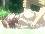 Virgin hentai cutie brutally poked by stranger in the forest