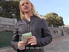 Eurobabe Monika paid for public fucking
