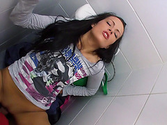 Sexy Kristyna gets fucked in a public toilet in exchange of cash