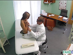 Teen flirts with the doctor