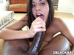 Big black cock for very tight Lyla Storm fucking on the pussy