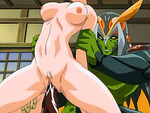 Hentai babe fucked by monster