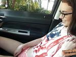Slender Tali Dava fucked in the backseat