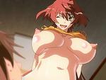 Big titted hentai redhead