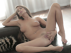 Spicy hot Lia Taylor pleasuring herself