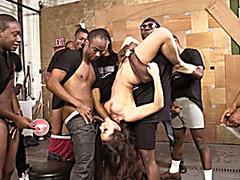 Valentina Nappi suck lots of black cocks