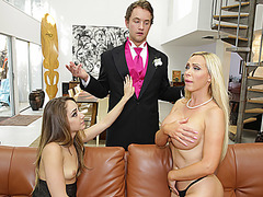 Adorable babes Remy LaCroix and Nikki Benz gets banged