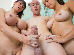 Shae Summers and her stepmom share cock