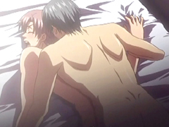 Sexy hentai gay lovers make out and having a love affair