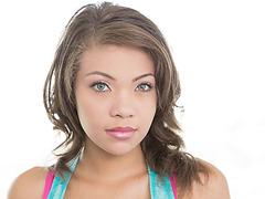 Sweat teen Cassidy Banks sucks and fucks huge cock