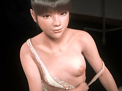 Cute asian 3d girl