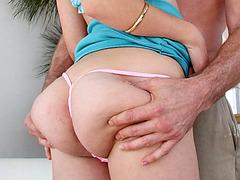 Big assed stunner Charlee Monroe screws her pussy on cock