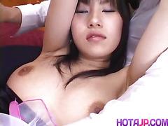 Yukine Fujishiro in socks gets cum on mouth