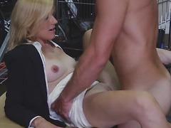 Watch sexy blonde MILF got banged