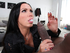 Busty MILF Nikki Benz takes big black cock