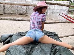 Sexy cowgirl Tina Hot riding a hard cock
