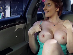 Booby gal Rainia Belle fucked in the car