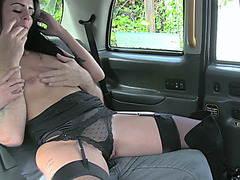 Sexy dancer strips on a big cock taxi driver to get a free ride