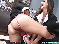 Busty CFNM housemaids want cock