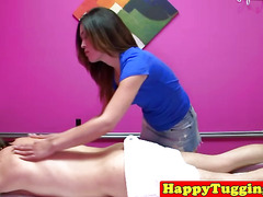 Asian masseuse Nipsey tugging and riding