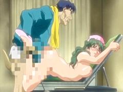 Busty hentai nurse hard poking from behind