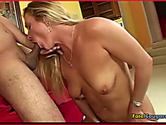 Cock Sucking Blonde Cougar Whore