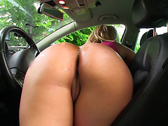 Round ass babe fucked in public for cash